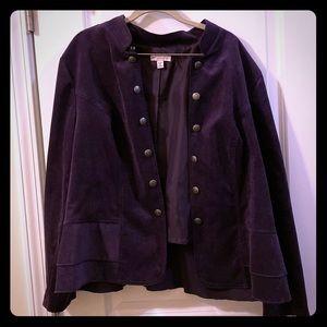 Purple military inspired coat